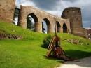 Siege engine trebuchet - Velhartice castle