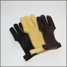 Leather glove for archers
